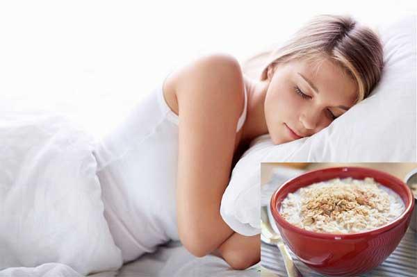 Ngủ ngon và sâu giấc hơn nhờ cháo bột yến mạch