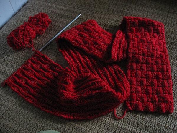 cách đan khăn quàng cổ 3