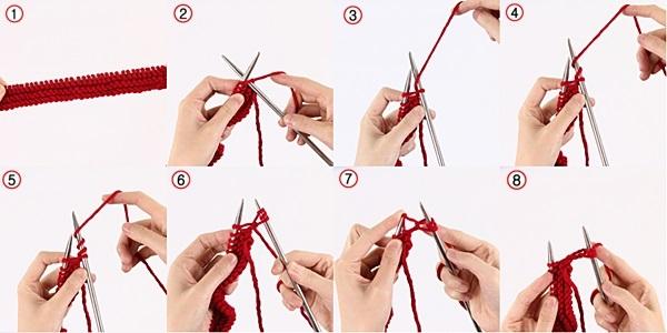 cách đan khăn quàng cổ 2