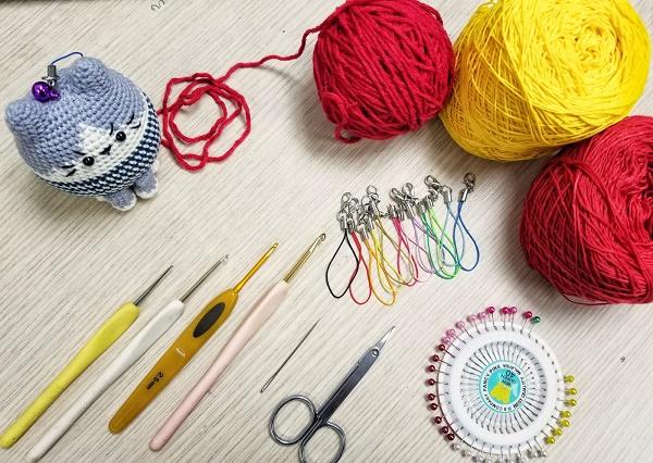 Cách móc khăn quàng cổ bằng len 1