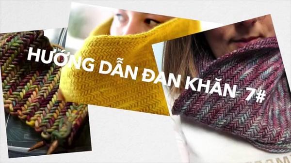 Cách móc khăn quàng cổ bằng len 3
