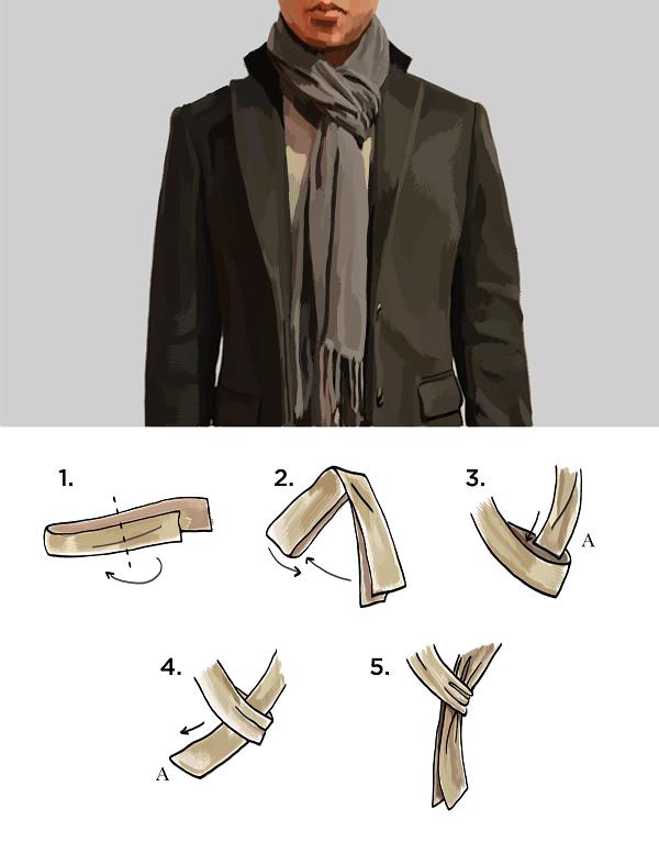 cách quấn khăn quàng cổ 3