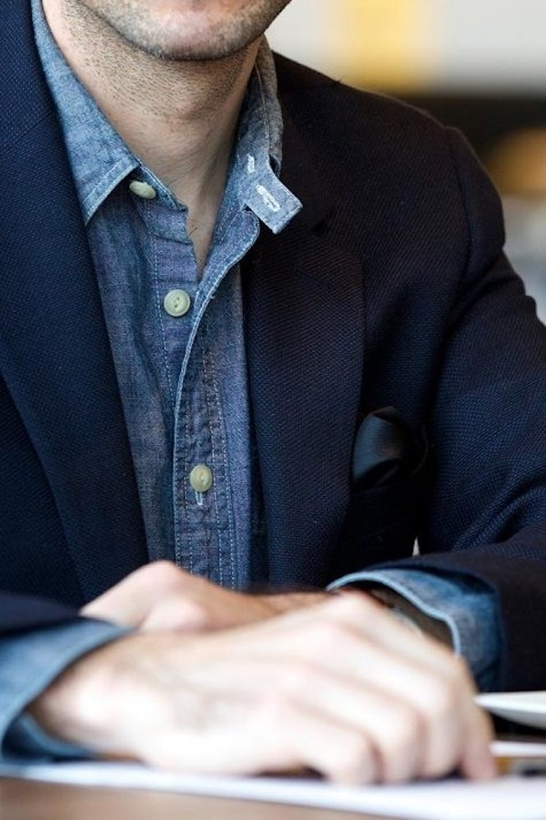 Áo sơ mi nam chambray: Tưởng lạ mà quen 15