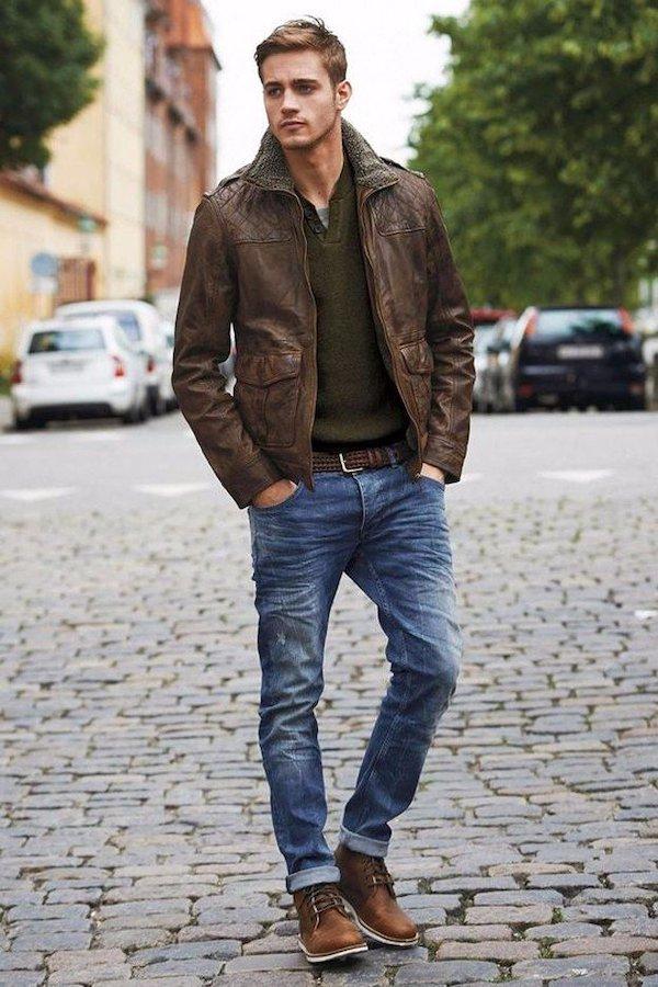 Đi tìm đồng bọn cho quần Jean và áo khoác da nam 7