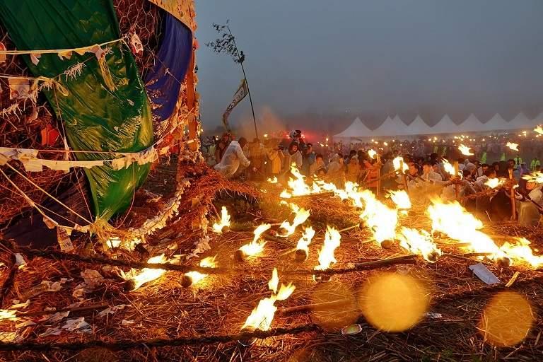 Lễ hội lửa trên đảo Jeju