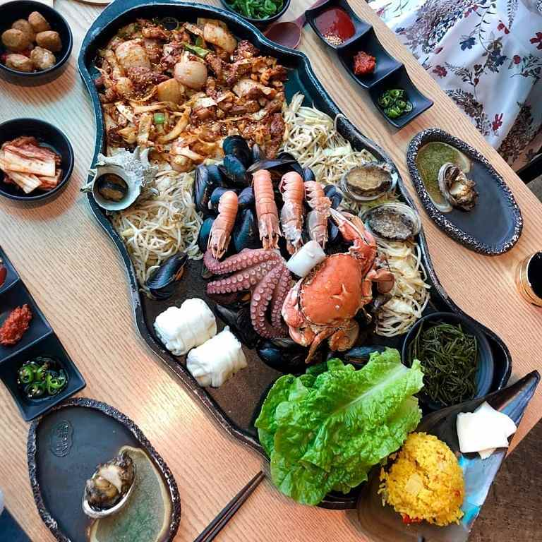 Một số món ăn từ hải sản Jeju