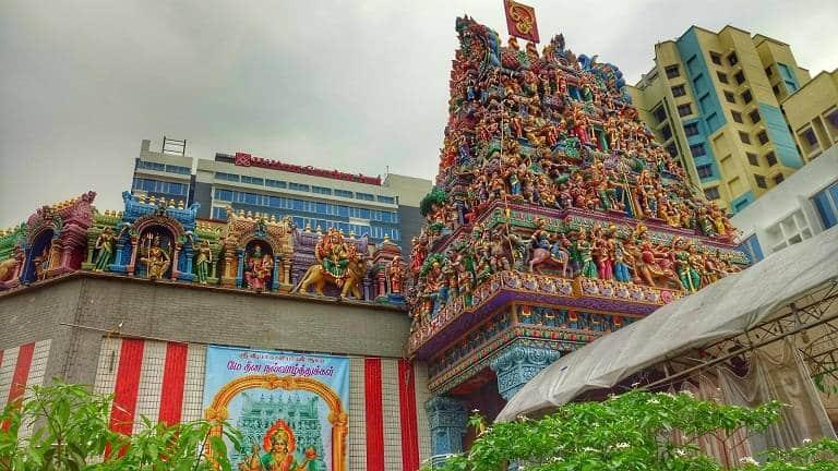 đền Sri Veeramekaliamman -Địa điểm du lịch Singapore