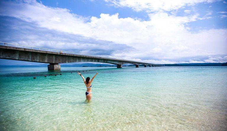 Cảnh đẹp thơ mộng tại Kouri - Du lịch Okinawa