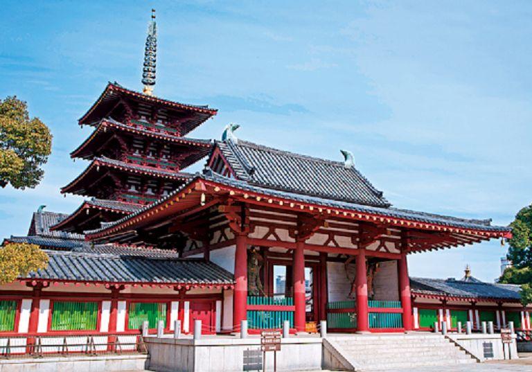 Chùa Phật giáo Shitenno-ji - Địa điểm du lịch Osaka nổi tiếng
