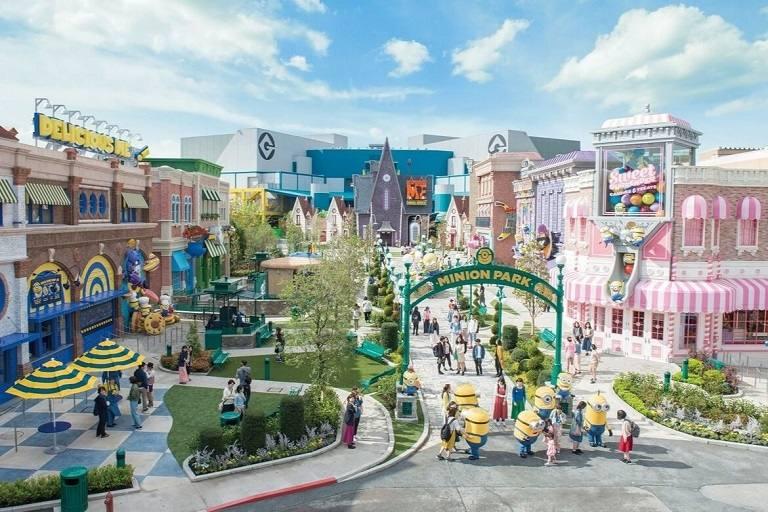 Thế giới sắc màu tại Công viên Universal Studios