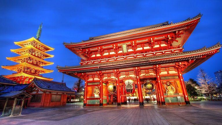 Chùa Sensoji - Địa điểm du lịch Nhật Bản