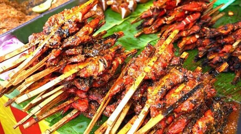 Gà ayam percik - Đặc sản Malaysia