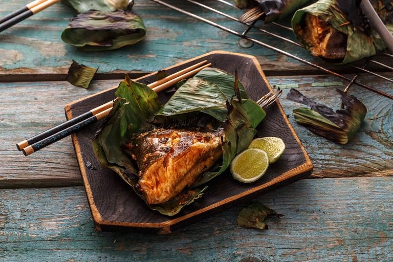 Cá cơm Ikan Bakar - Đặc sản Malaysia