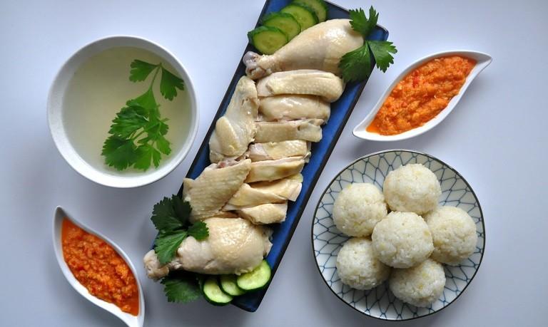 Cơm gà Hải Nam ở Malaysia
