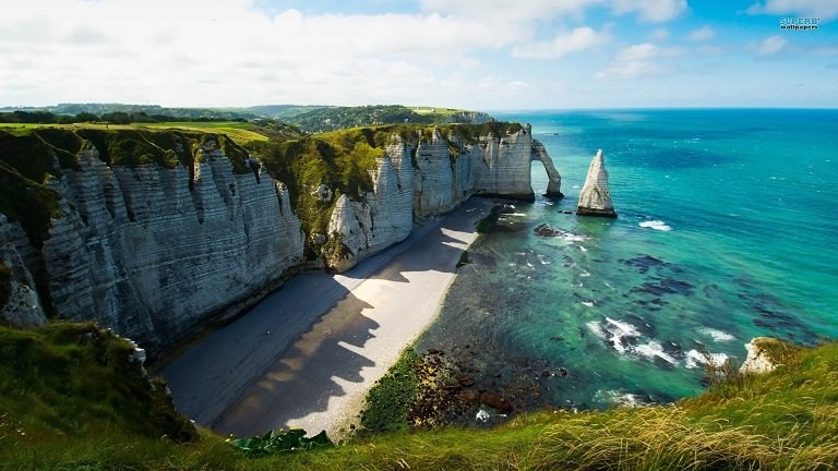 Bãi biển tại Normandy - địa điểm du lịch tại Pháp
