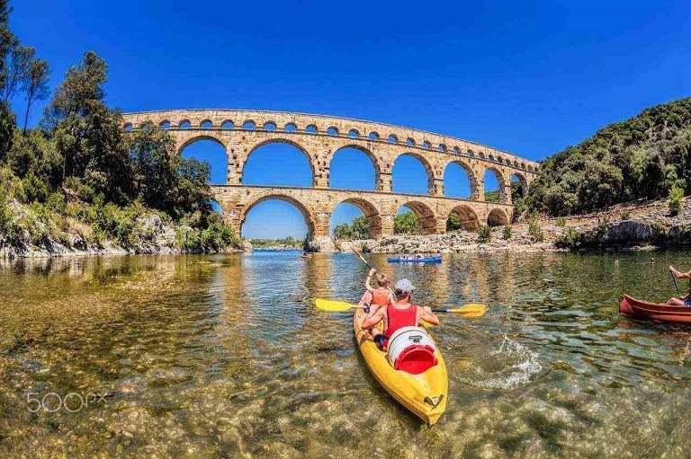 Cầu Pont du gard -Du lịch Pháp