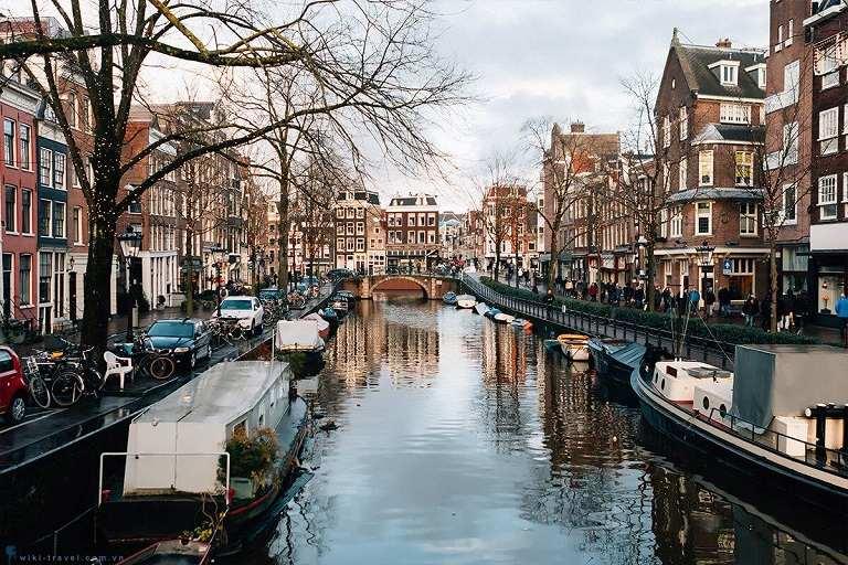 địa điểm du lịch Hà Lan - Những kênh đào ở Amsterdam