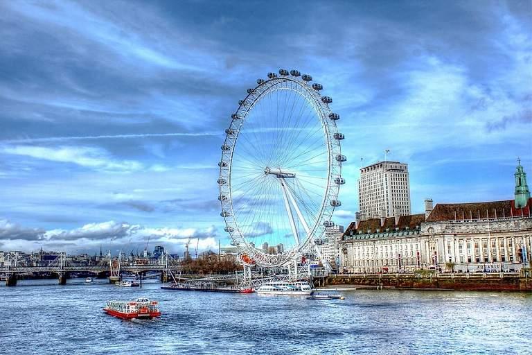 Đu quay khổng lồ Coca-Cola London Eye - địa điểm du lịch tại Anh