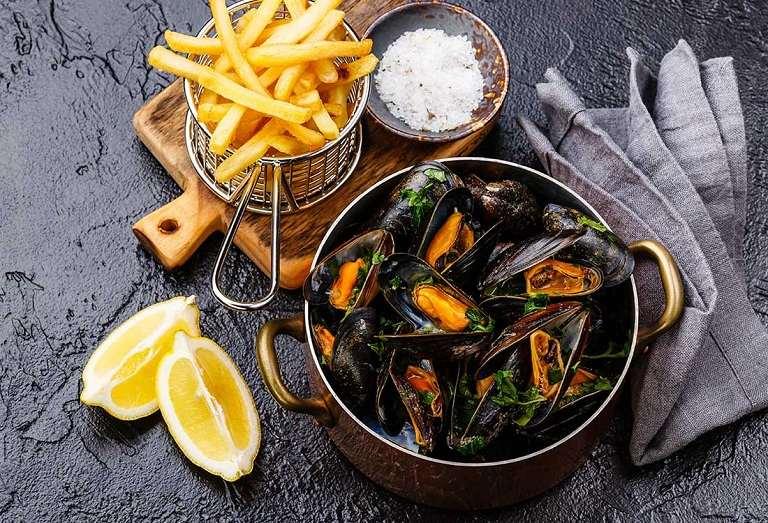 Moules frites - Món ăn đến từ ẩm thực Bỉ