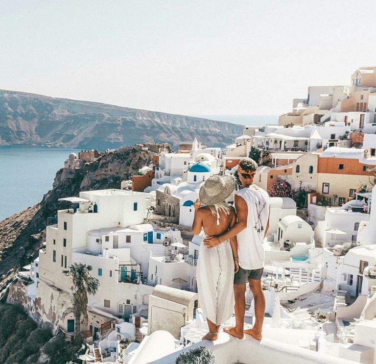kinh nghiệm du lịch châu Âu - Santorini