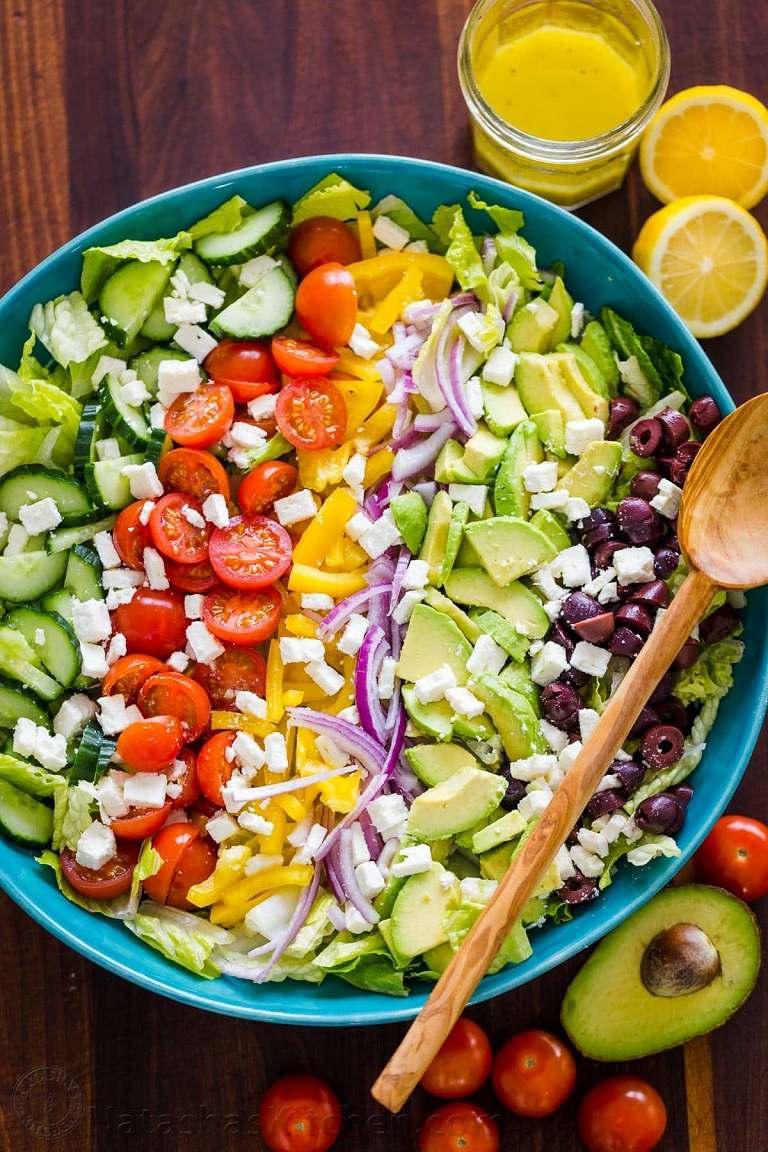Kinh nghiệm du lịch Santorini - Greek Salad