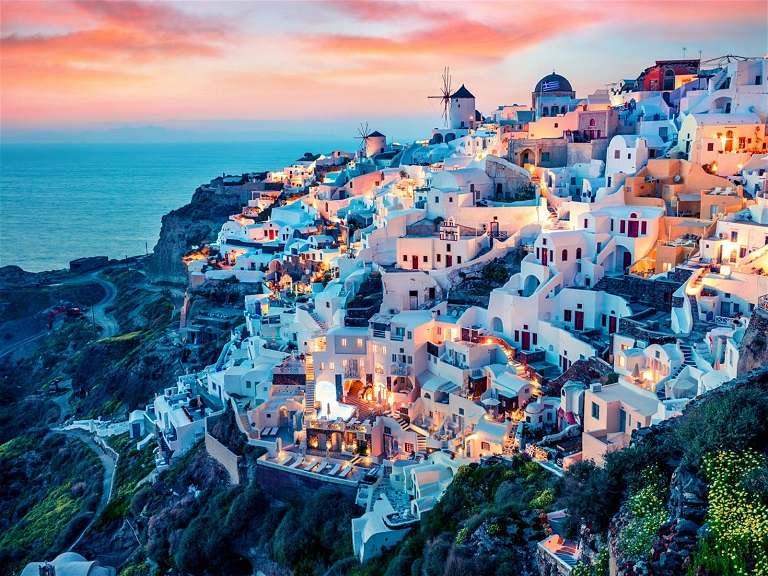 Santorini đẹp không góc chết