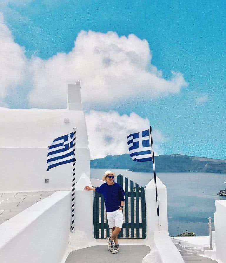 Kinh nghiệm du lịch Santorini - Phòng nghỉ ở Làng Fira